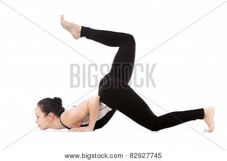 Yogi Female In Yoga Eight-limbed Pose