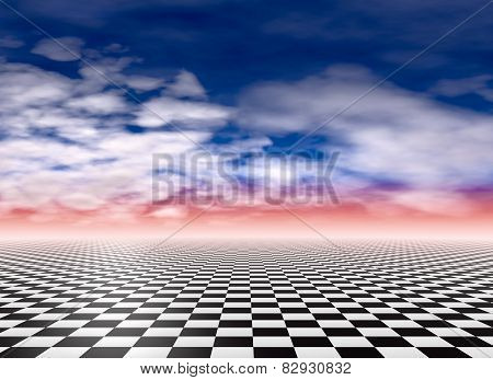Checkered Floor Background