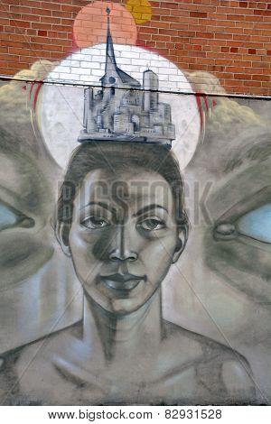 Street art Montreal face