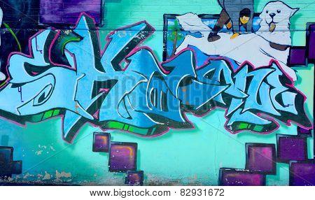 Street art Montreal tag