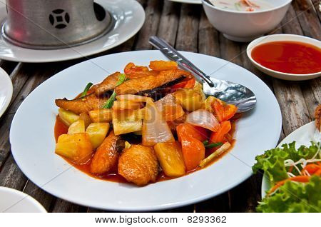 The Fried Sweet And Sour Fish