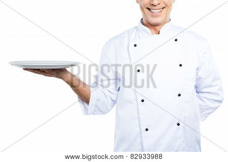 Chef With Plate.