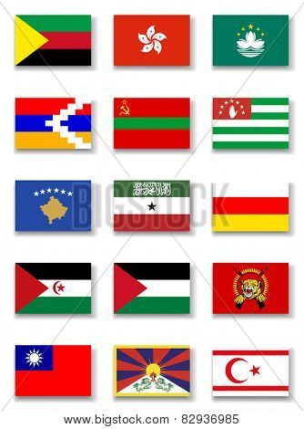 Other Countries ( unrecognized) Flag collection