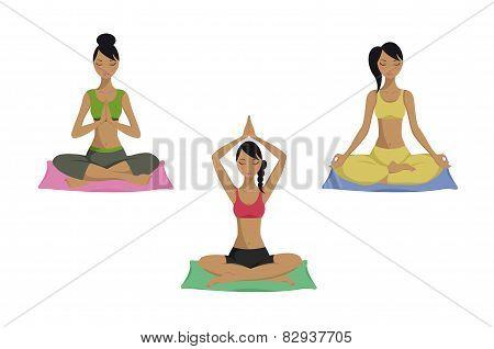 Yoga poses set