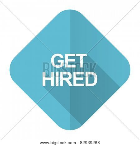 get hired flat icon