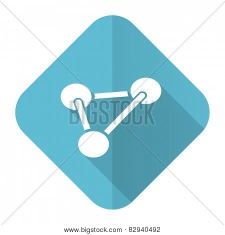 chemistry flat icon molecule sign