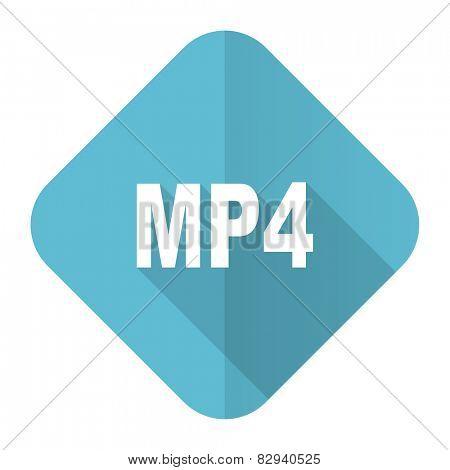 mp4 flat icon
