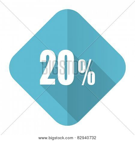20 percent flat icon sale sign