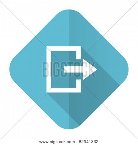 exit flat icon