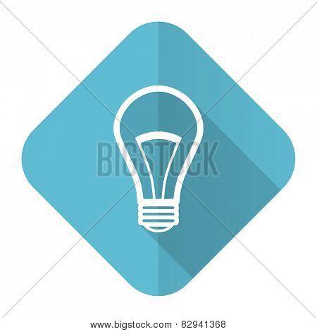 bulb flat icon light bulb sign