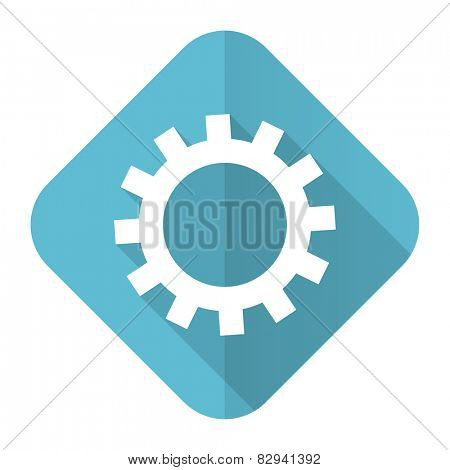 gears flat icon options sign