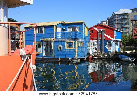 Colorful Houseboats