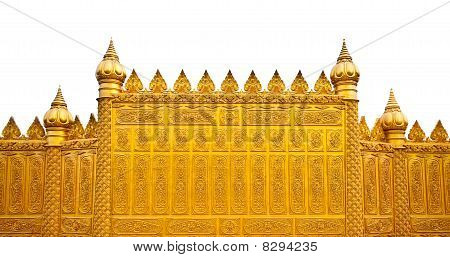 The Golden Wall Of Temple