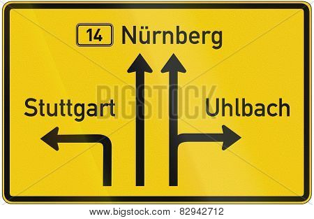 Direction Sign Nuremberg