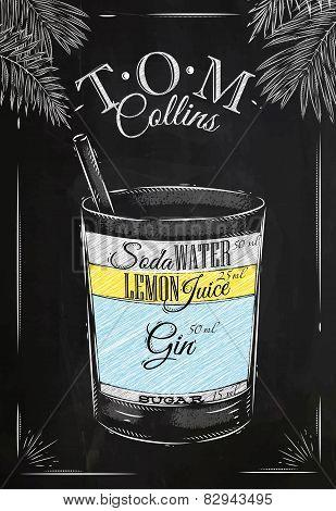 Tom Collins cocktail chalk