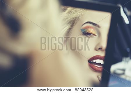 Beautiful Face In The Mirror