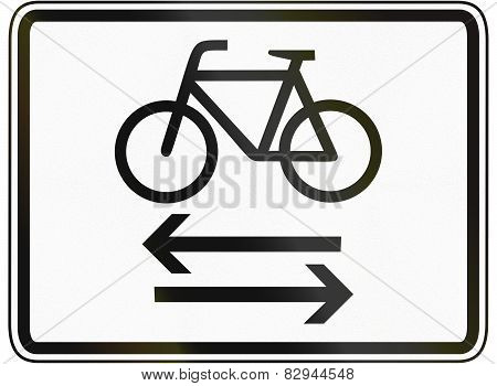 Two-way Cycle Route