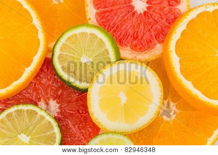 slices of an orange. symbolic photo for healthy vitamins with fresh fruit