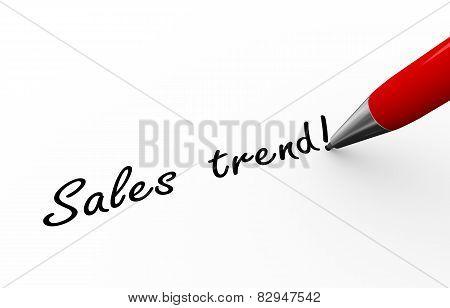 3D Pen Writing Sales Trend Illustration