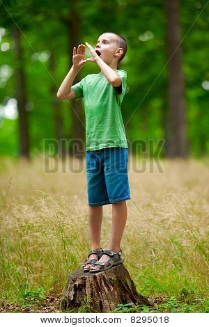 Beautiful Child Outdoor Having Fun