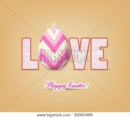 love with easter eggs
