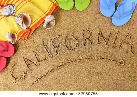 California Beach Background