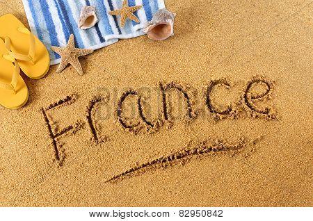 France Beach Writing