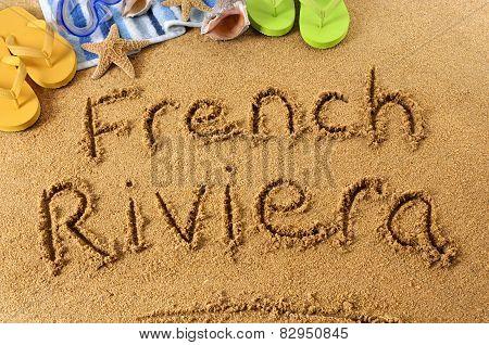 French Riviera Beach Writing