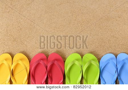 Row Of Flip Flops