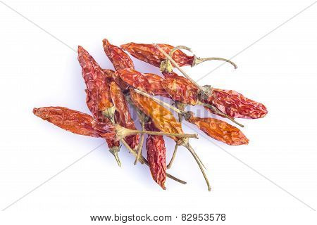 Red Chili Isolated On A White Background