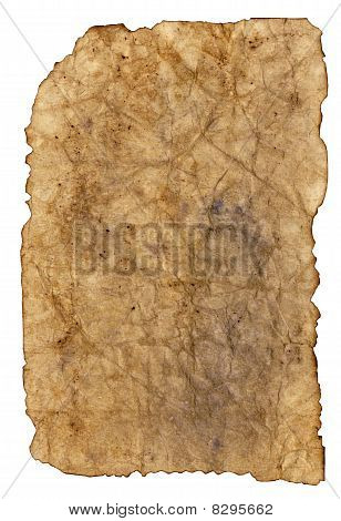 Antique Paper On White