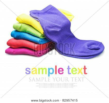 Colorful Socks Isolated On White Background