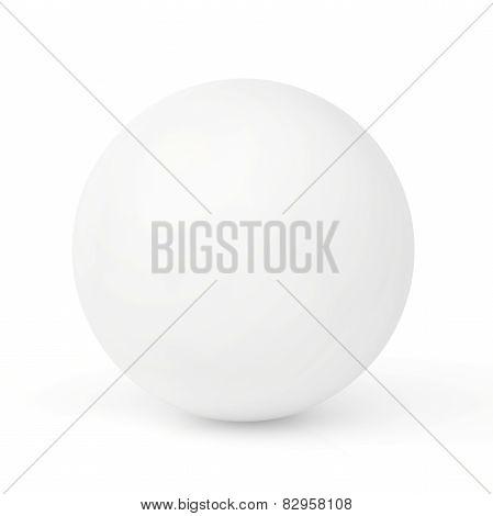 sphere. 3d render on white background