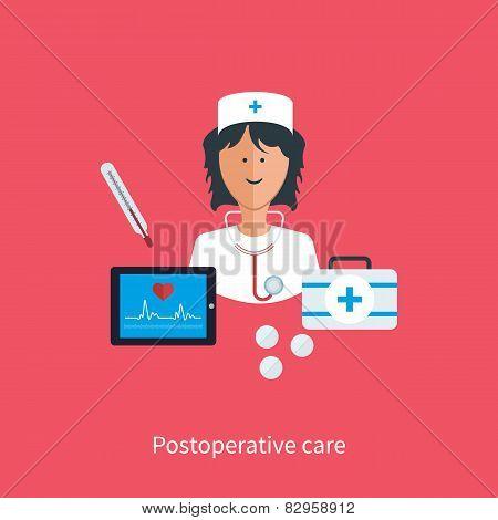 Flat design modern vector illustration concept for health care