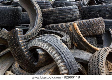Old Wheel Black Tyre.