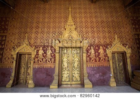 The Doors Of Temple, Luang Prabang, Laos