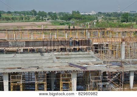 Construction sites under progress in Malaysia