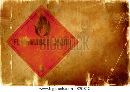 brennbare Flüssigkeit Zeichen (warme Hintergrund)
