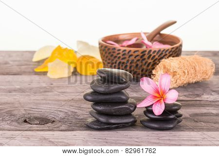 Spa With Stones, Soaps And Flowers