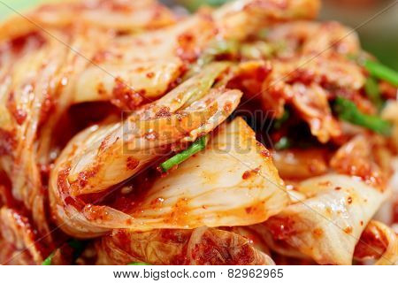 Kimchi (fermented vegetables) - traditional Korean dish