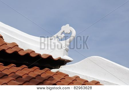 Rood detail at the Masjid Kampung Hulu in Malacca, Malaysia