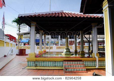 Old ablution at Masjid Kampung Hulu in Malacca, Malaysia