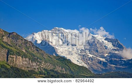 Jungfrau mountain in the Jungfrau region