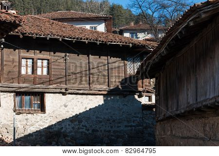 Street And Houses In The Old Town Of Koprivshtitsa, Bulgaria