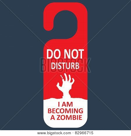 Vector tag do not disturb. Zombie.