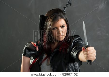Dangerous And Armed Girl