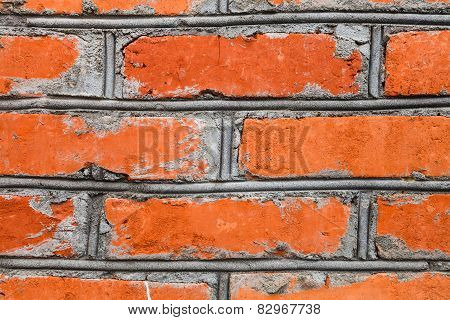 Background From Red Brick Wall