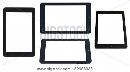 Set Of Tablet Pc With Cut Out Screen Isolated