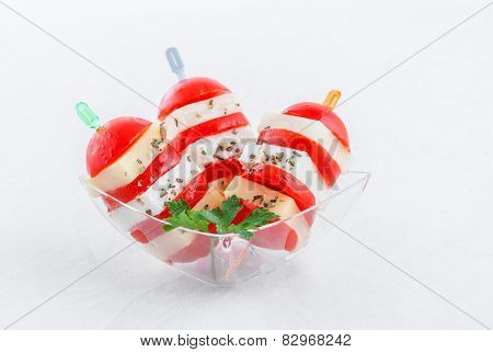 cherry tomatoes finger food on sticks