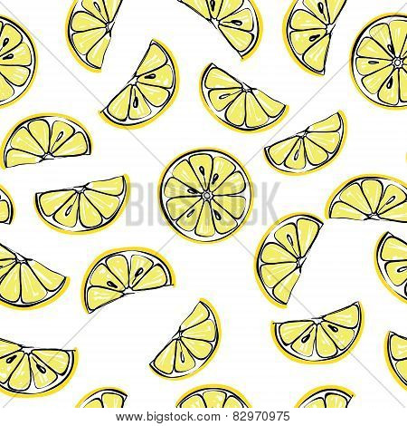 Lemon seamless pattern